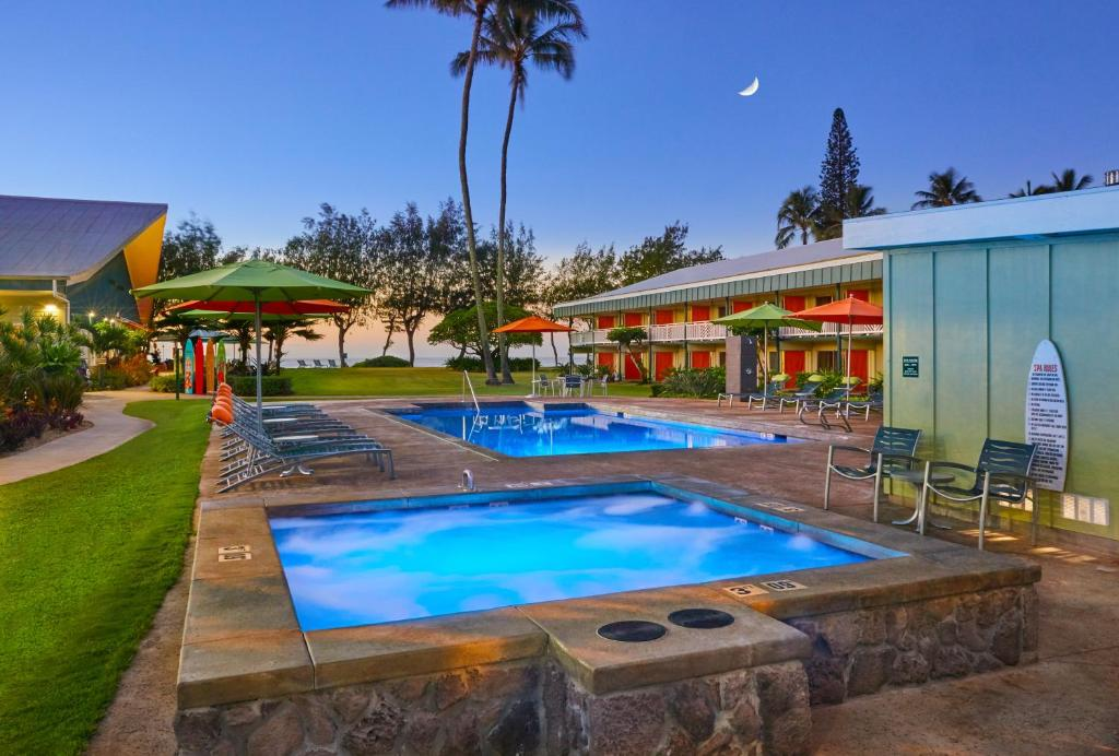 The swimming pool at or close to Kauai Shores Hotel