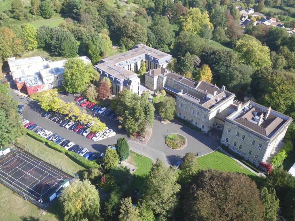 A bird's-eye view of Bailbrook House Hotel, Bath
