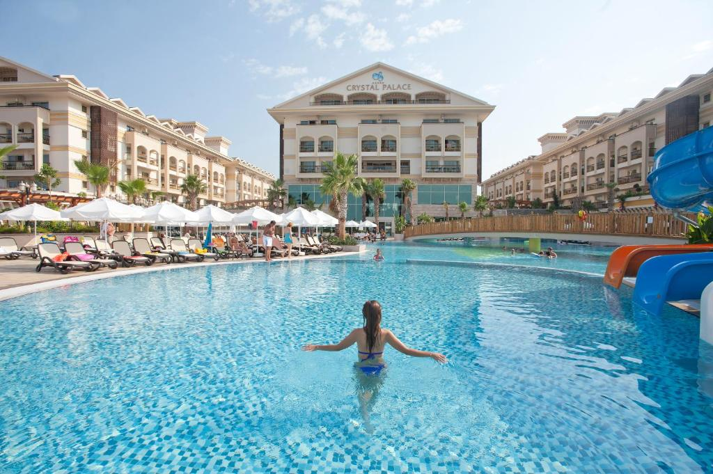 The swimming pool at or close to Crystal Palace Luxury Resort & Spa - Ultra All Inclusive
