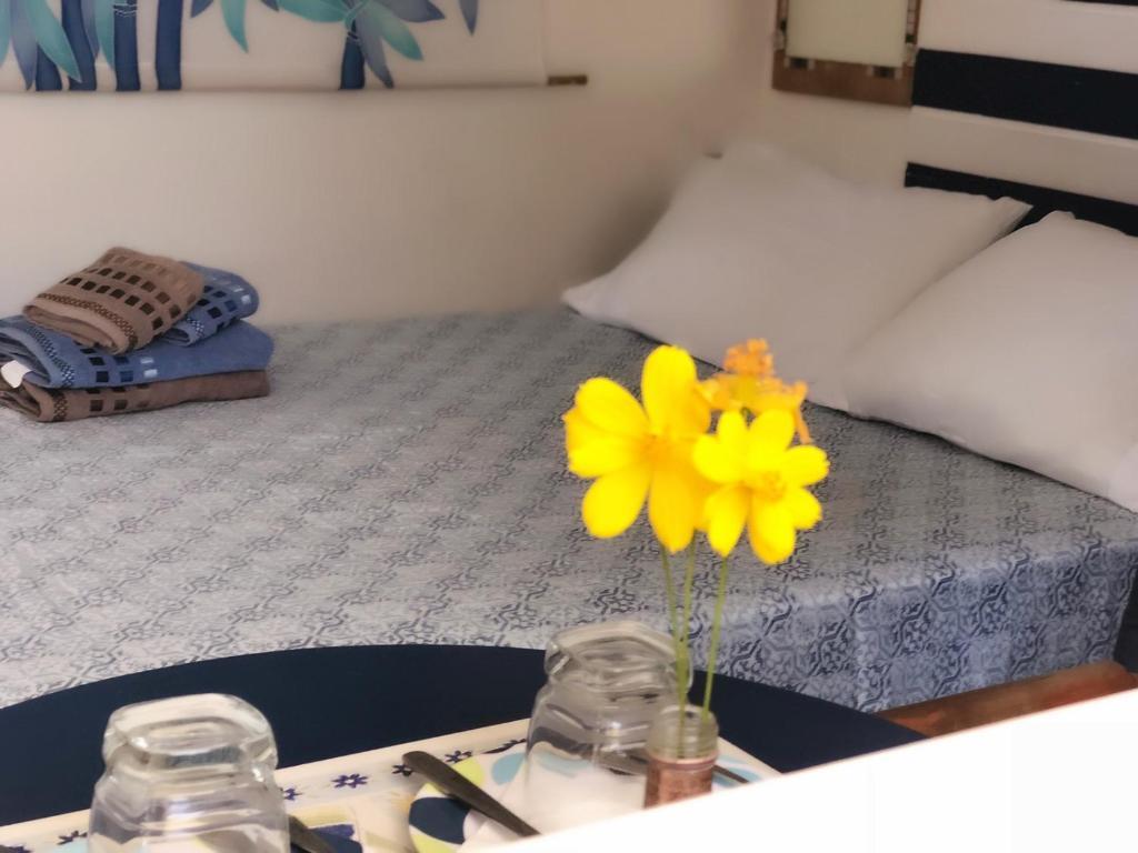 Cama ou camas em um quarto em Suítes Astral