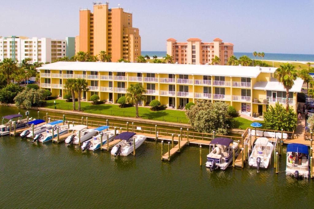 A bird's-eye view of Treasure Bay Resort & Marina