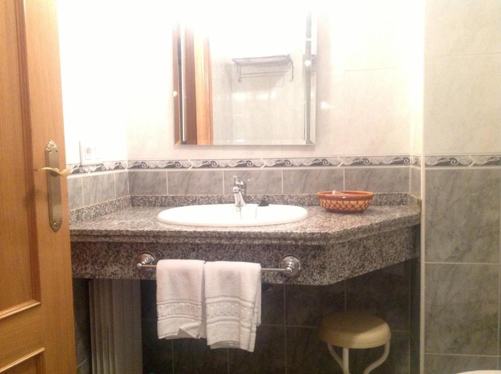 A bathroom at Hostal San Froilan