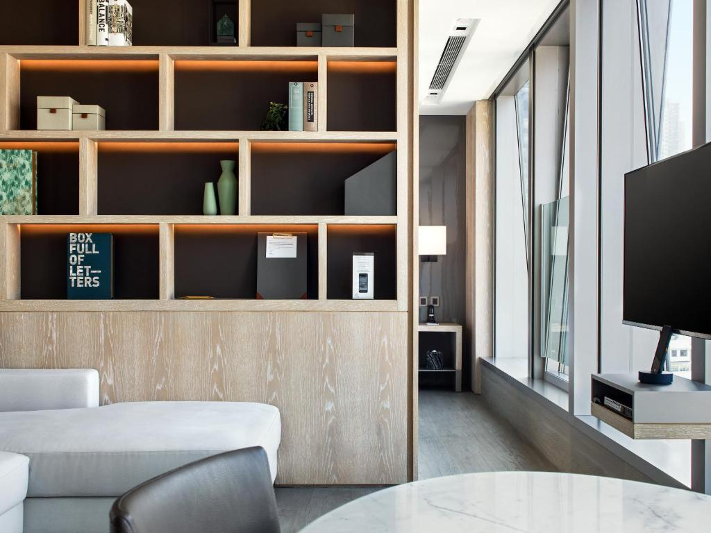 A seating area at One96