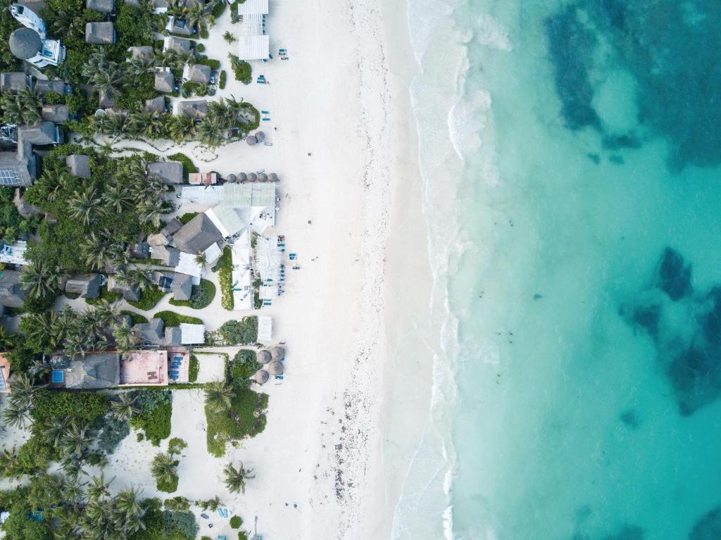 A bird's-eye view of Coco Tulum Zen Zone Hotel