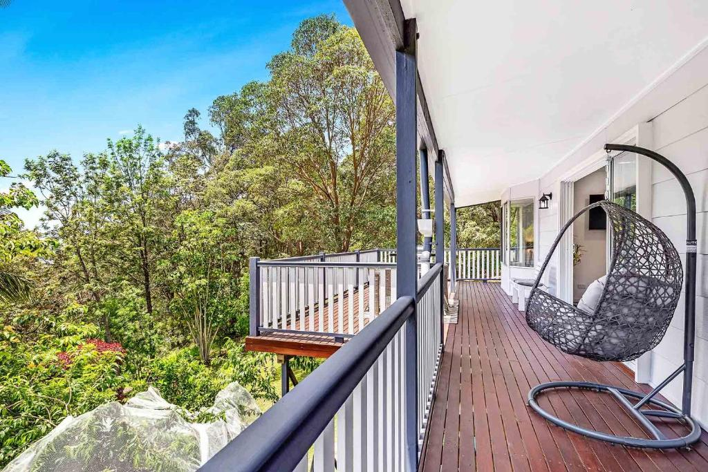 A balcony or terrace at Red Gum Cottage