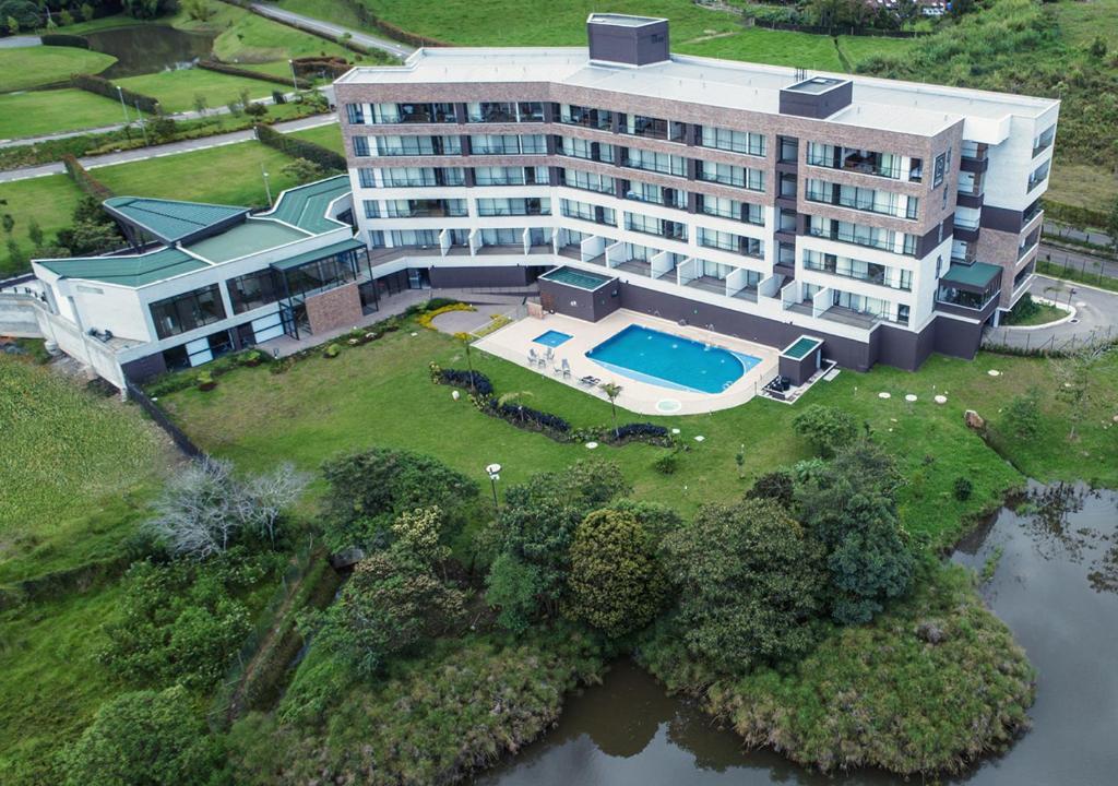 A bird's-eye view of Hotel Lagoon