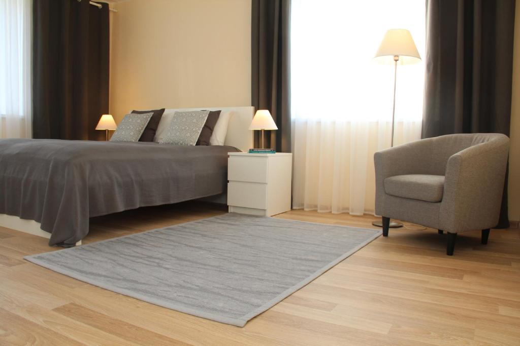 A bed or beds in a room at apartment Kanali 5a