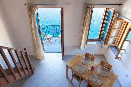 A seating area at Villa - Eleni Apartments