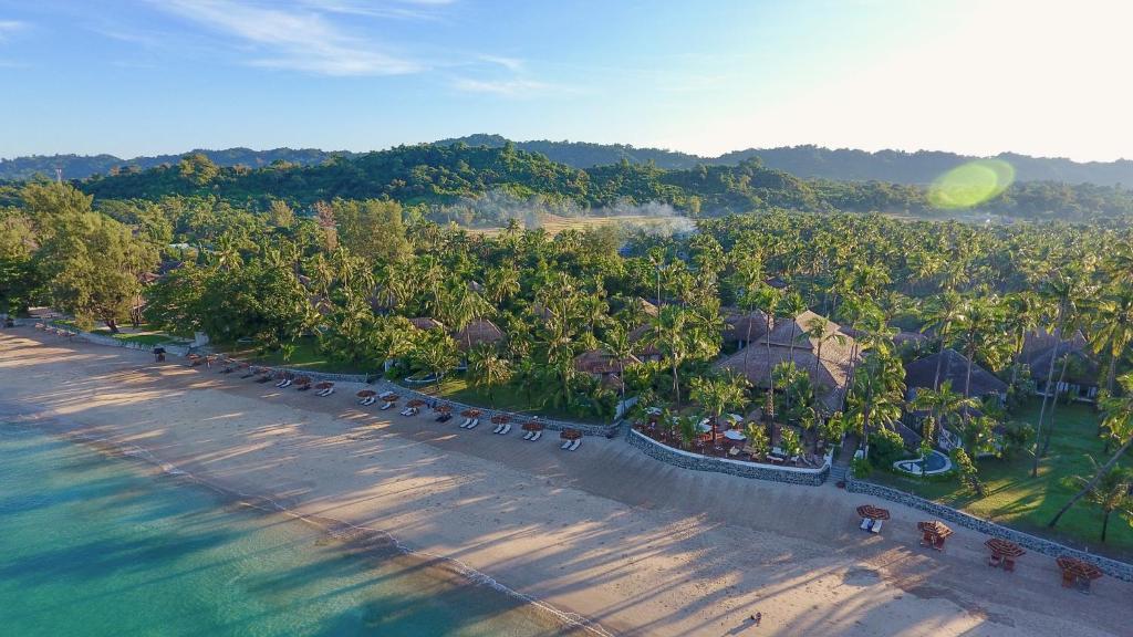 A bird's-eye view of Ngapali Bay Villas & Spa