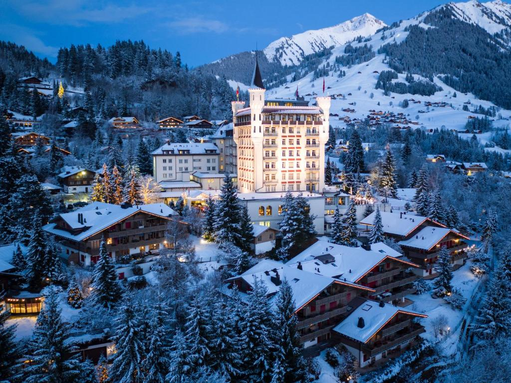 A bird's-eye view of Gstaad Palace