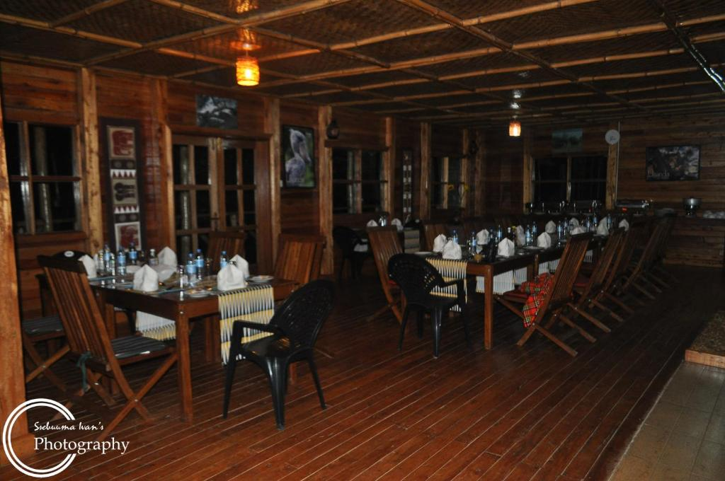 A restaurant or other place to eat at Ruhija Gorilla Lodge