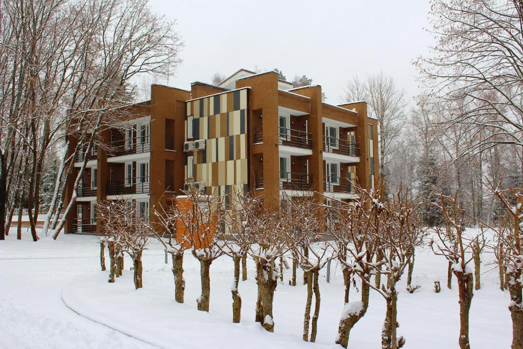 Park Hotel Akter Ruza during the winter