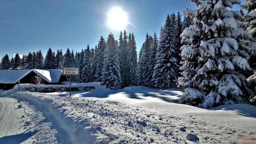 Penzion Horska Kvilda v zimě
