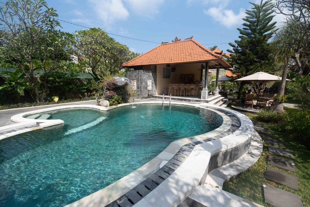 The swimming pool at or close to D'Kubu Legian