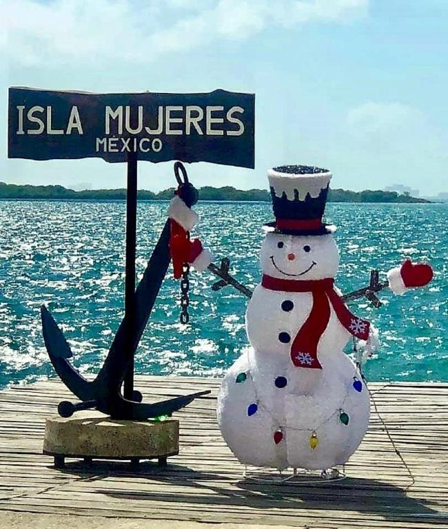 Winter in the Caribbean.