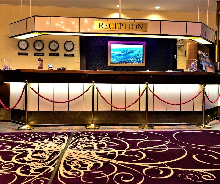 Majoituspaikan Hotel Leikari aula tai vastaanotto