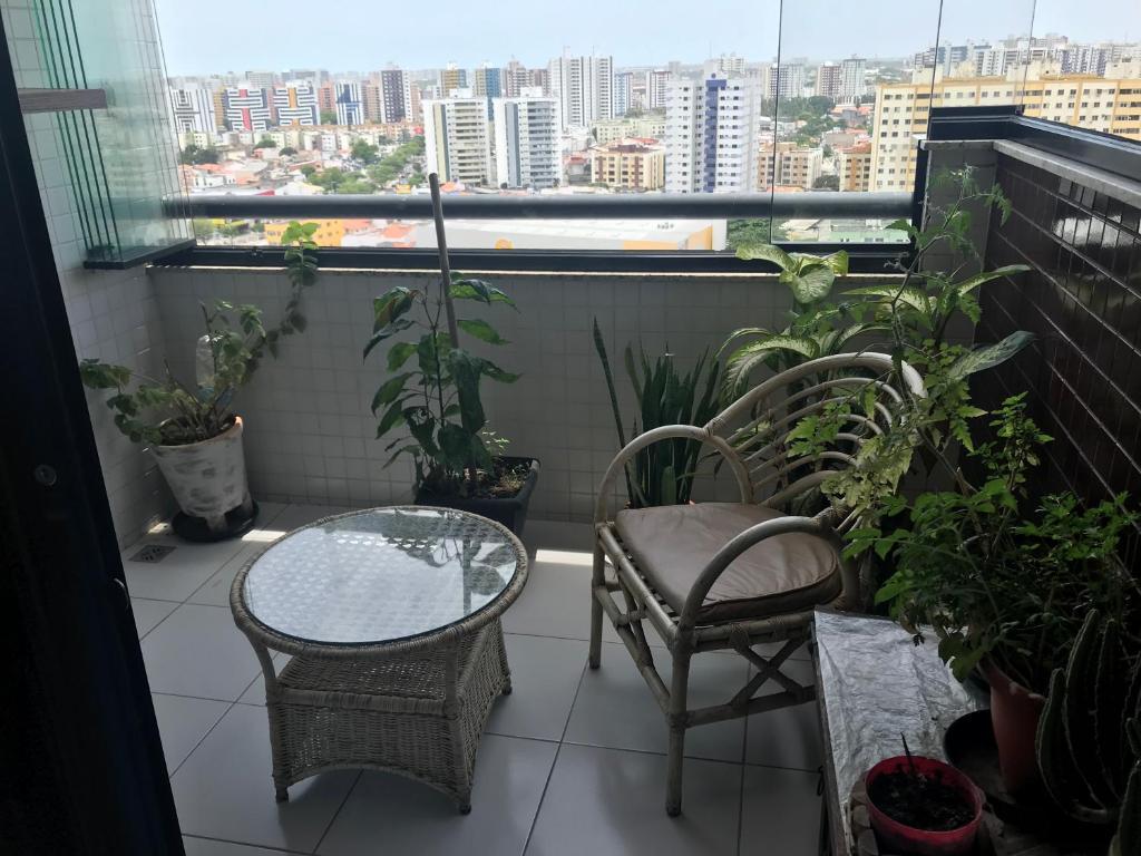 A balcony or terrace at Apartamento 2/4 lindo
