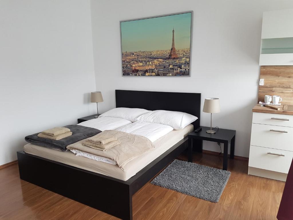 Ein Bett oder Betten in einem Zimmer der Unterkunft Sunny Studio for Two!