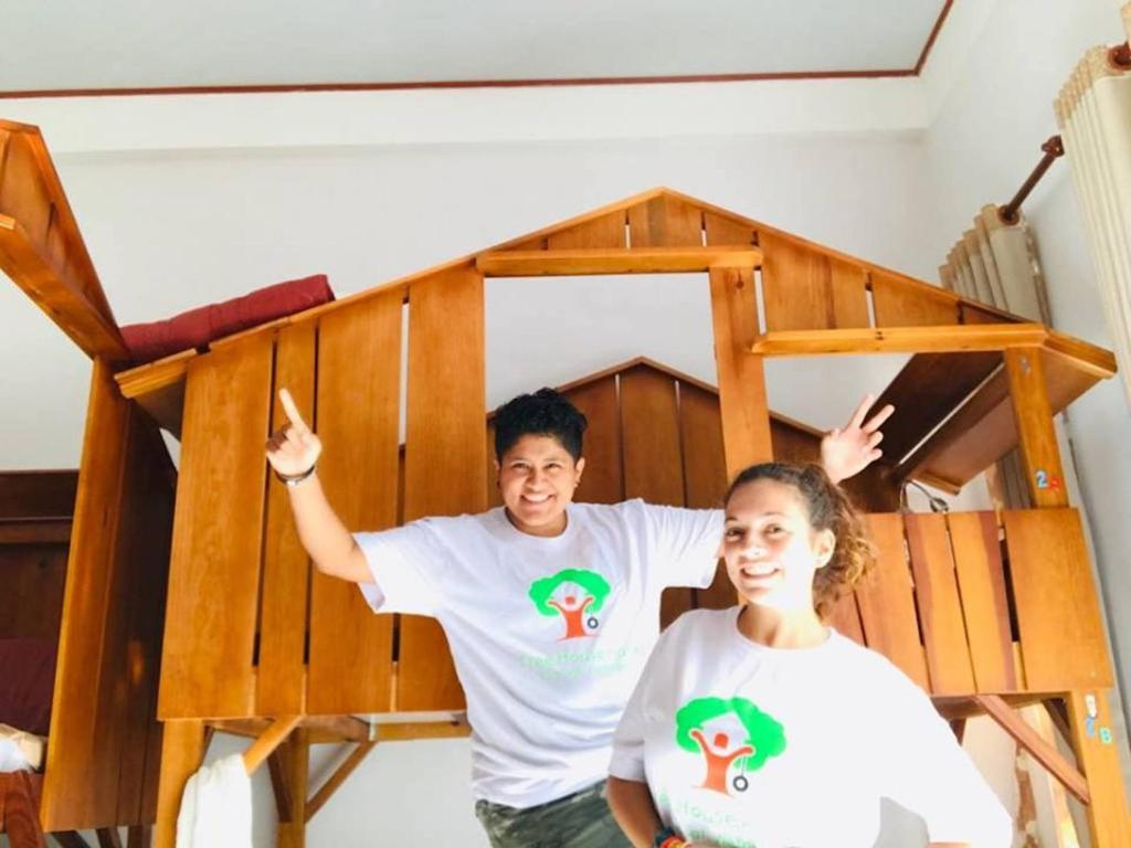 Children staying at Tree House Hostel