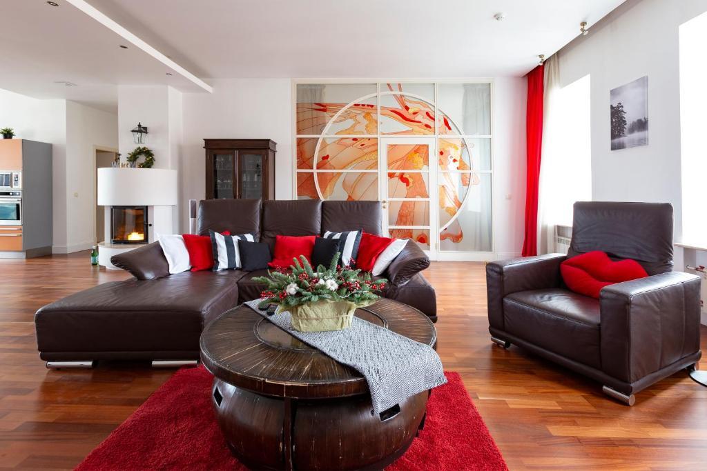 Гостиная зона в Apartment at Mokhovaya 39