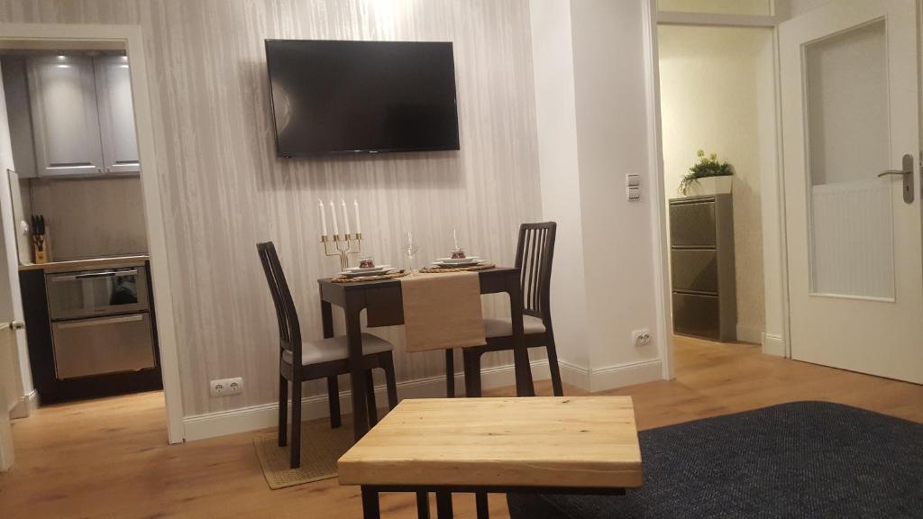 TV a/nebo společenská místnost v ubytování Hannover at Home - Beautiful apartment in Zooviertel