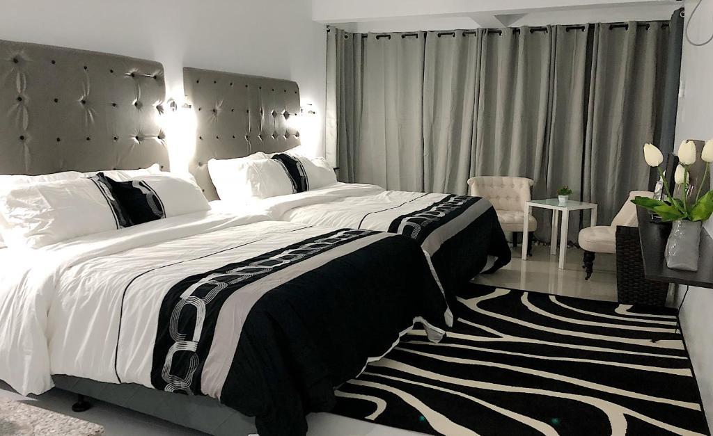 Cama o camas de una habitación en ouR looks Inn