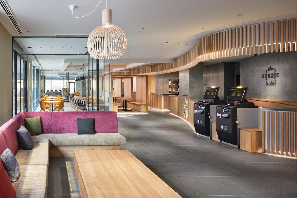The lobby or reception area at the square hotel KANAZAWA