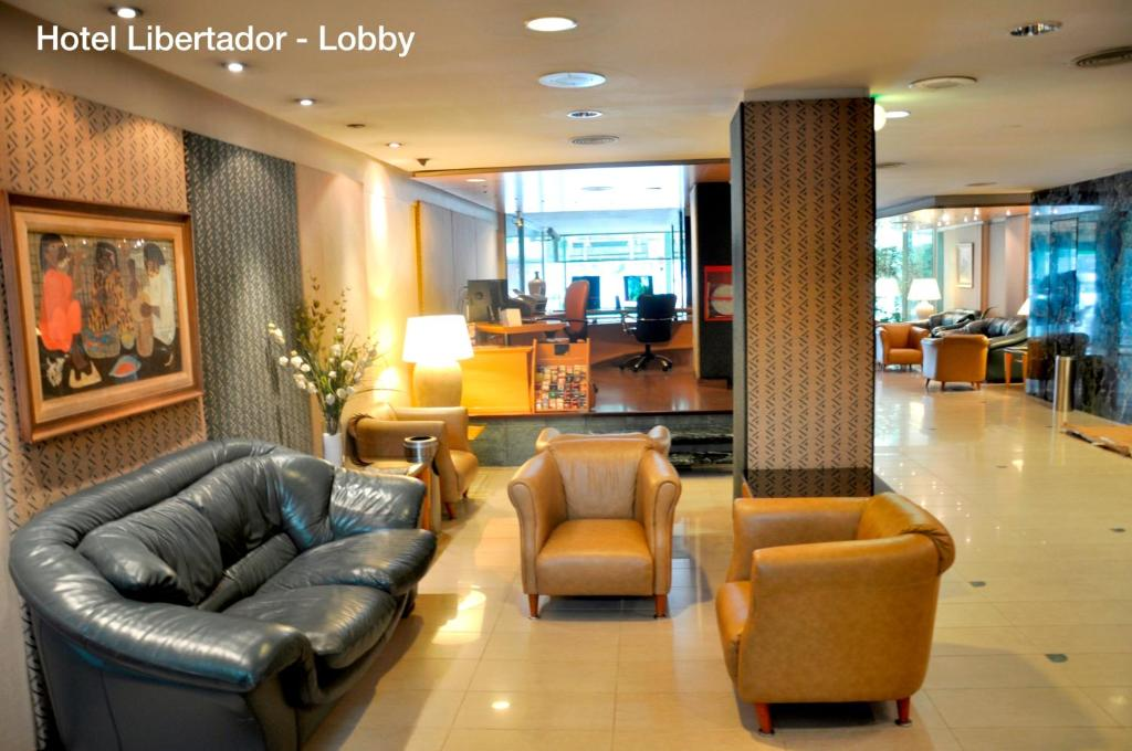 The lobby or reception area at Hotel Solans Libertador