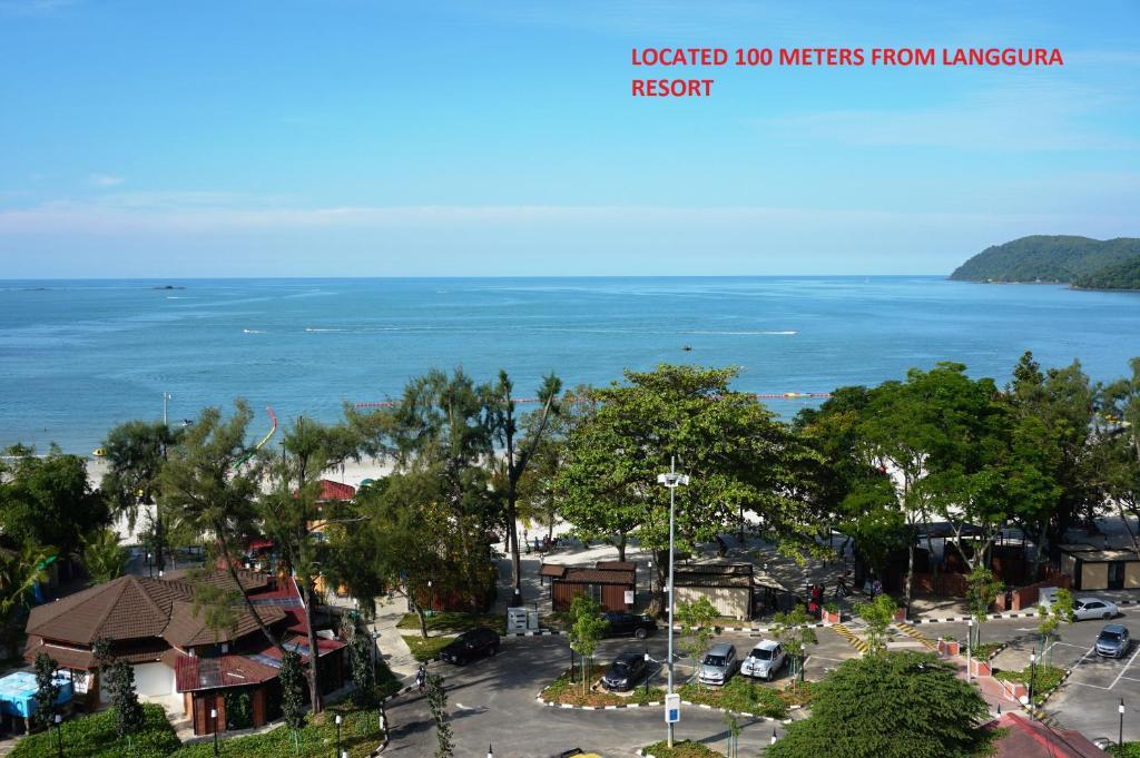 A bird's-eye view of Langgura Baron Resort