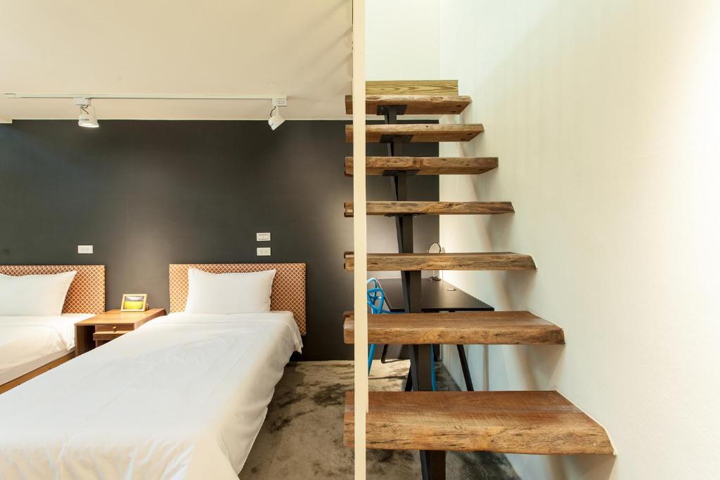 青庭民宿房間的床