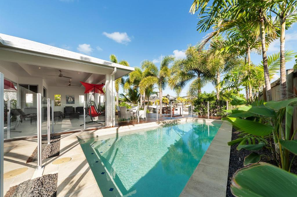 The swimming pool at or near Cairns beaches home @Trinity Park