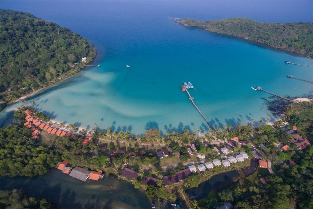 Vue panoramique sur l'établissement Siam Beach Resort Koh Kood