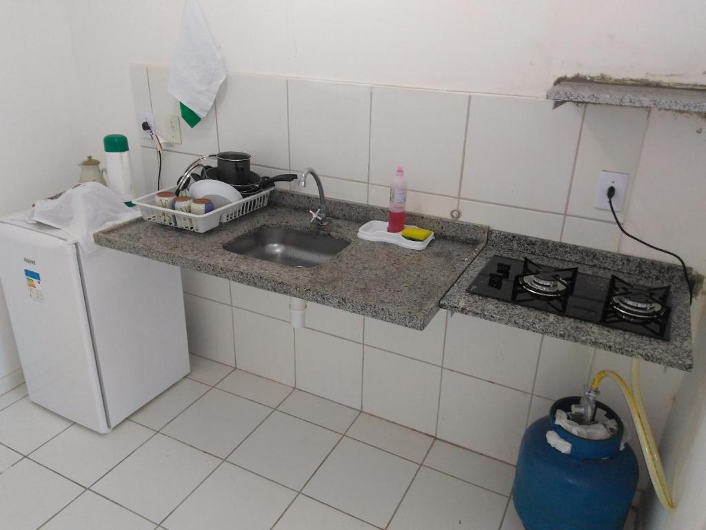 A kitchen or kitchenette at Casa Marechal Deodoro / Maceió / praia do Francês