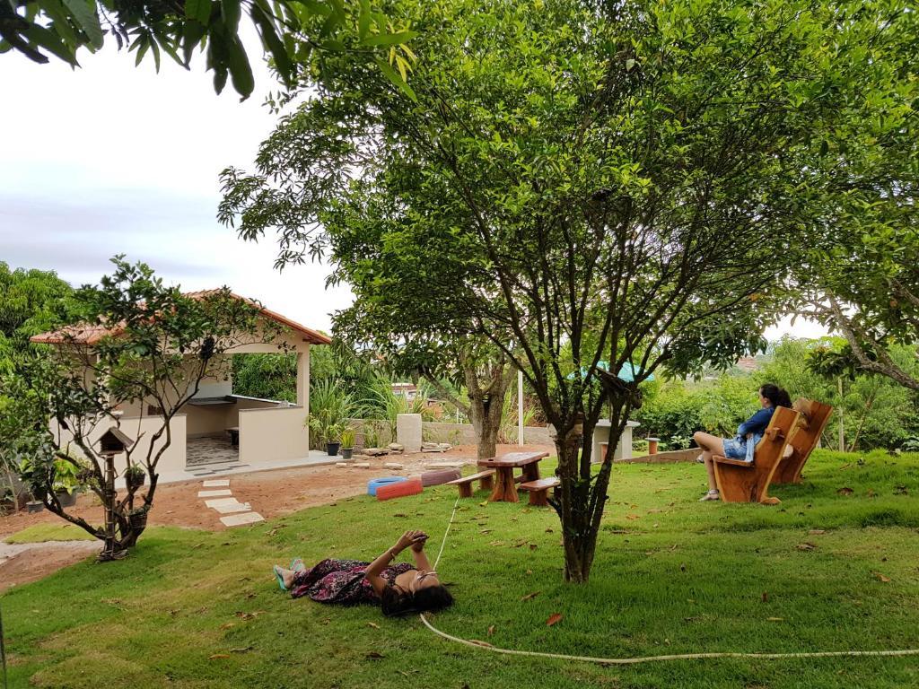 A garden outside Vivenda Casagrande