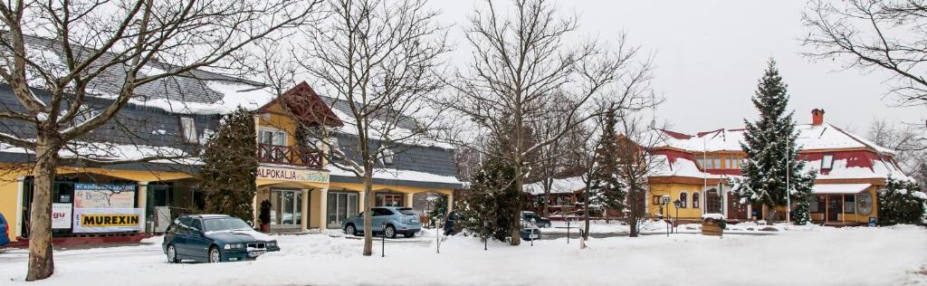 Alpokalja Panzió Étterem during the winter