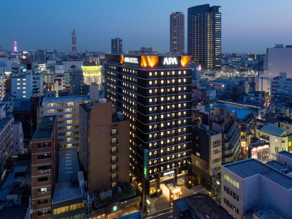 A bird's-eye view of APA Hotel Namba-Eki Higashi