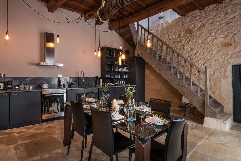 Majoituspaikan Boutique Villa Kalliope ravintola tai vastaava paikka