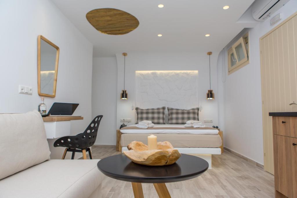 Ένα ή περισσότερα κρεβάτια σε δωμάτιο στο Korali Boutique Hotel
