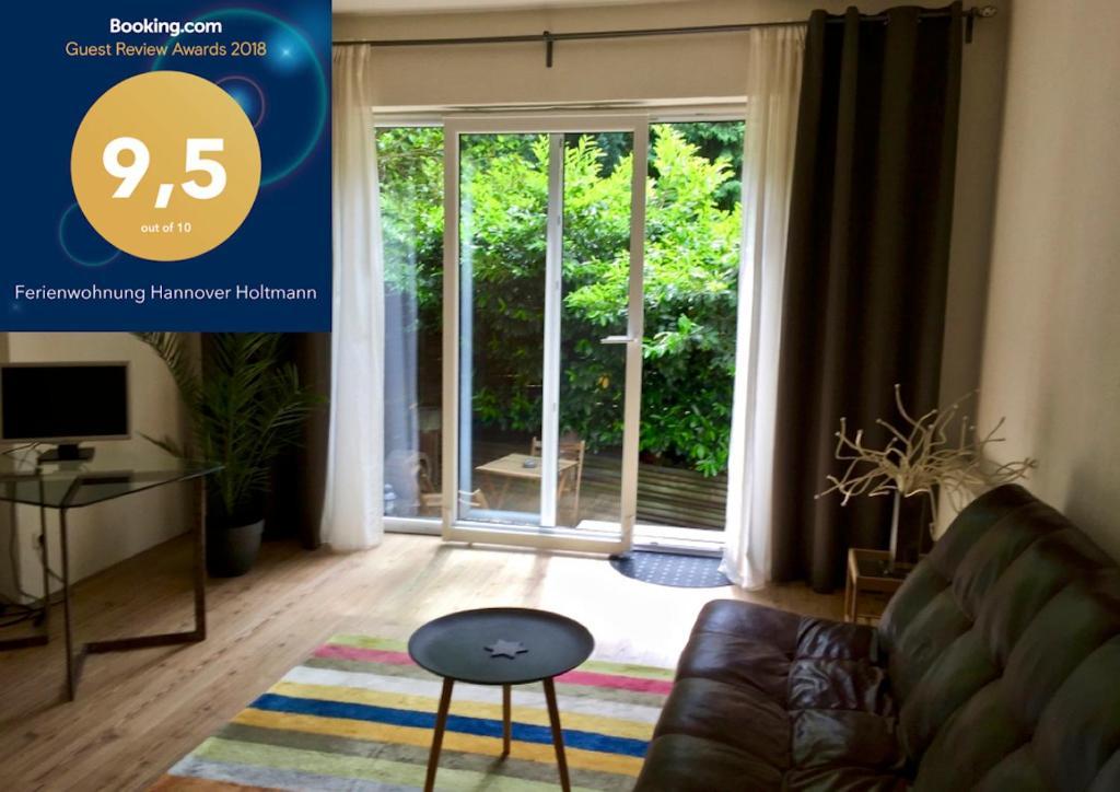 Ein Sitzbereich in der Unterkunft Ferienwohnung Hannover Holtmann