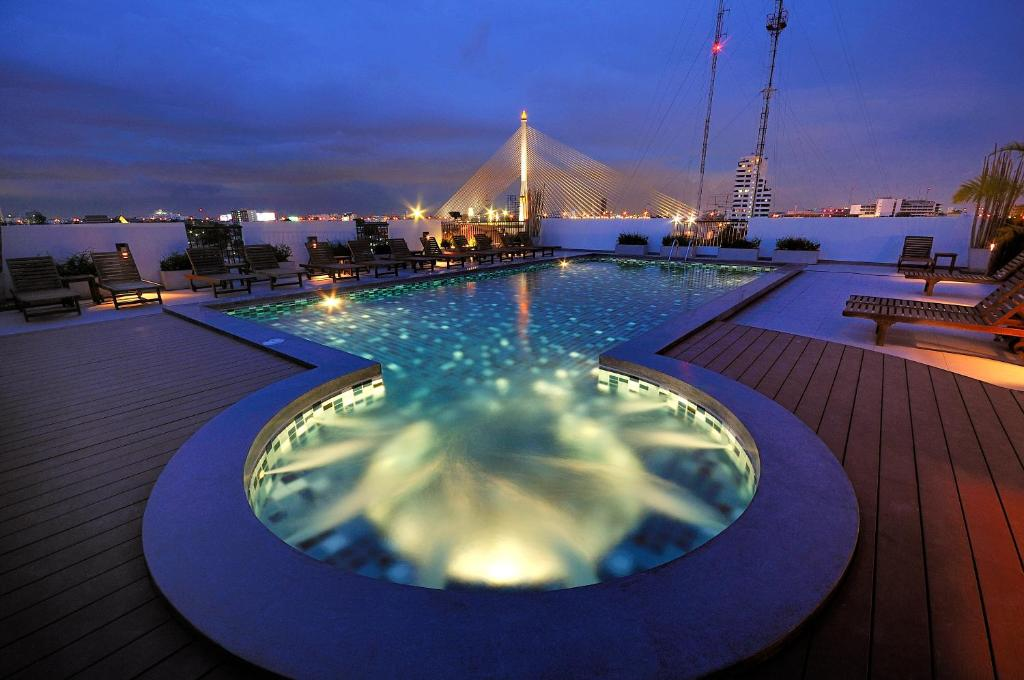 The swimming pool at or near Navalai River Resort