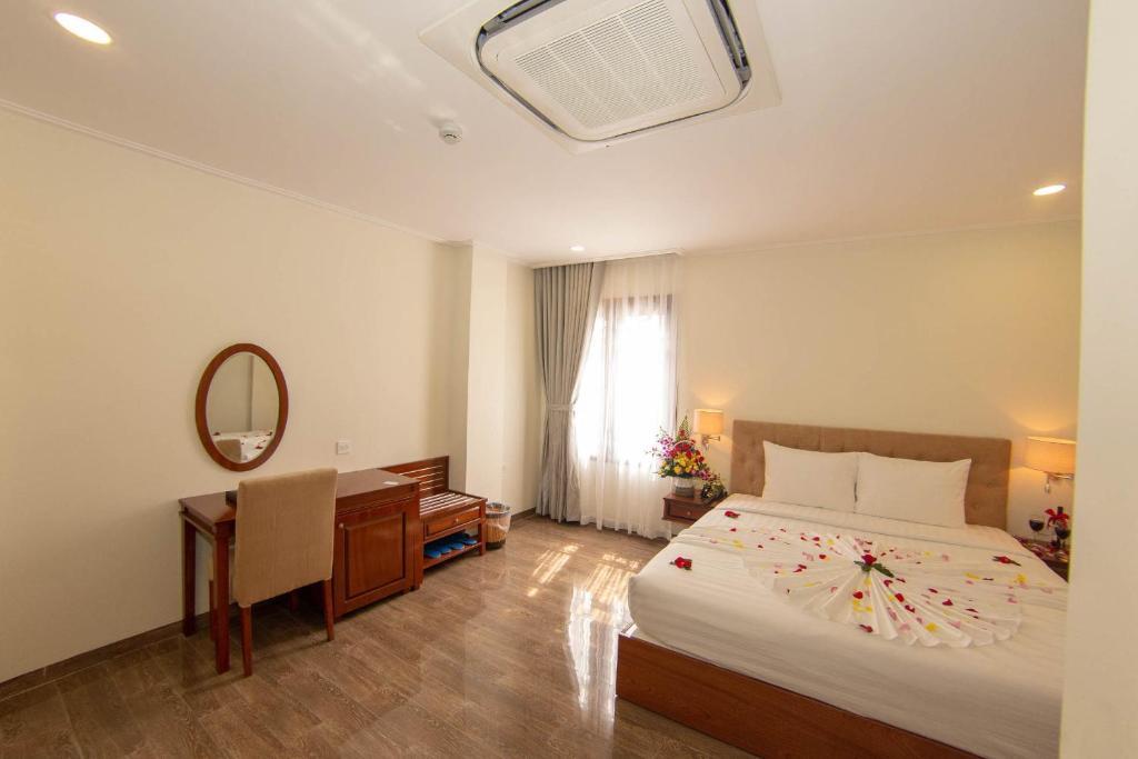 Trường Hải Hotelにあるベッド