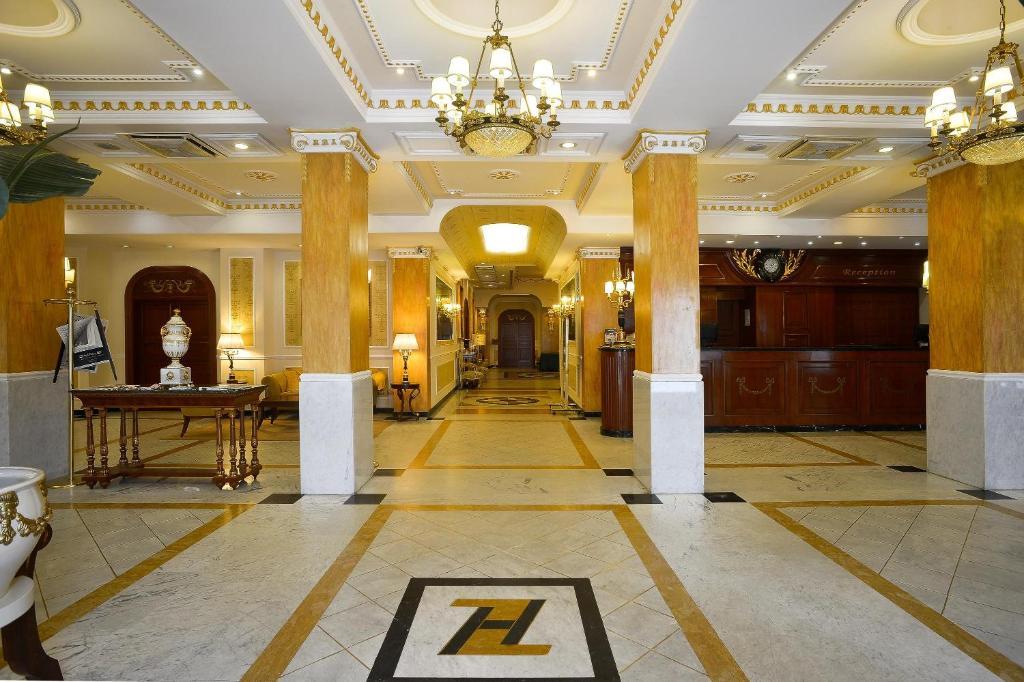 The lobby or reception area at Zanhotel Europa