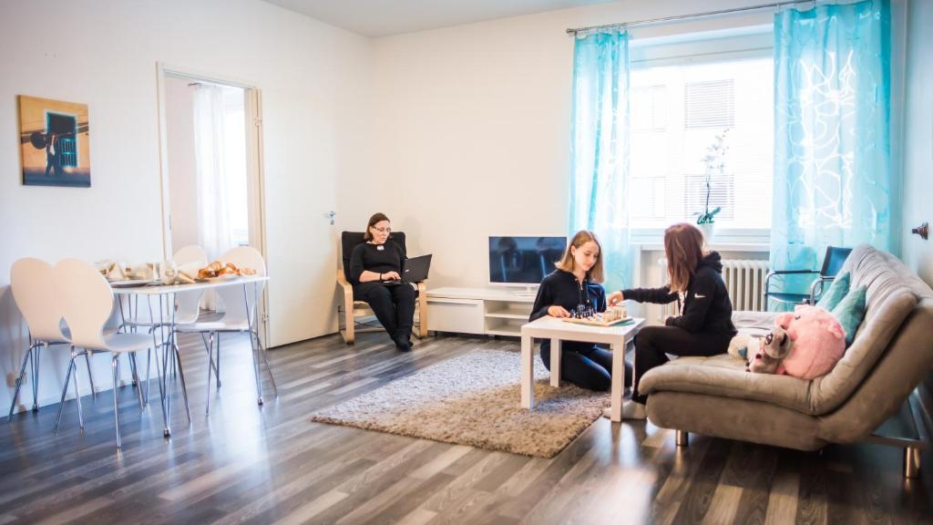 Oleskelutila majoituspaikassa Apartment Hotel Tampere MN