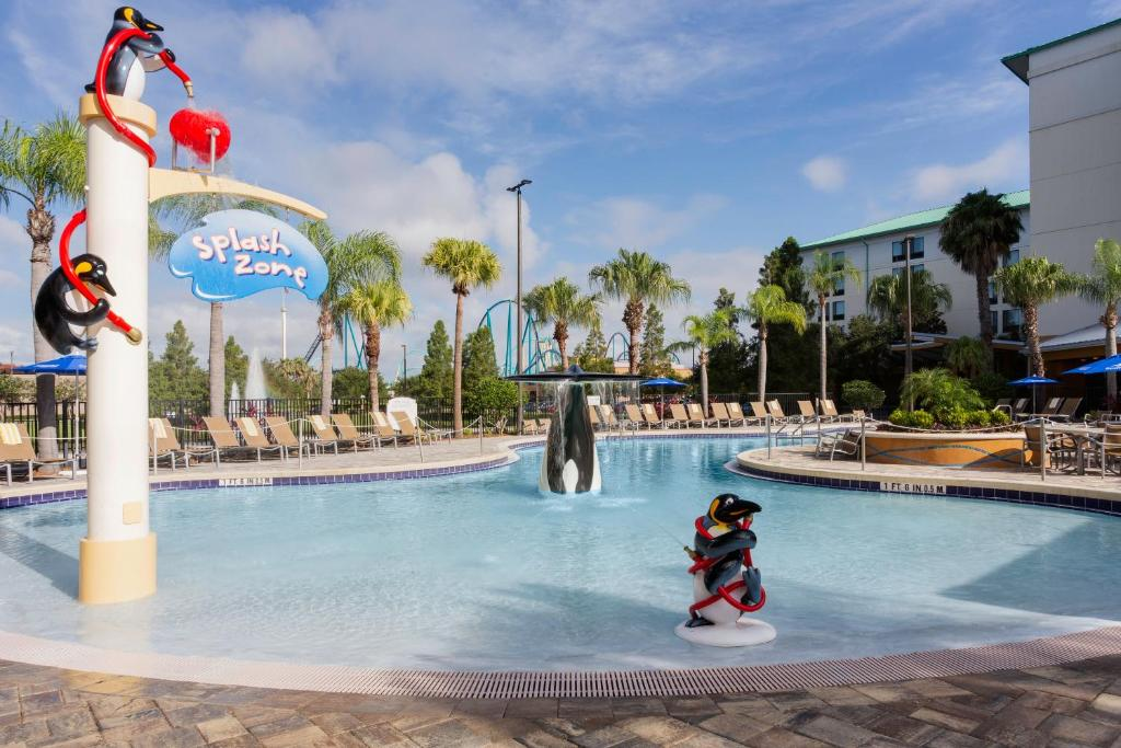 The swimming pool at or close to SpringHill Suites by Marriott Orlando at SeaWorld