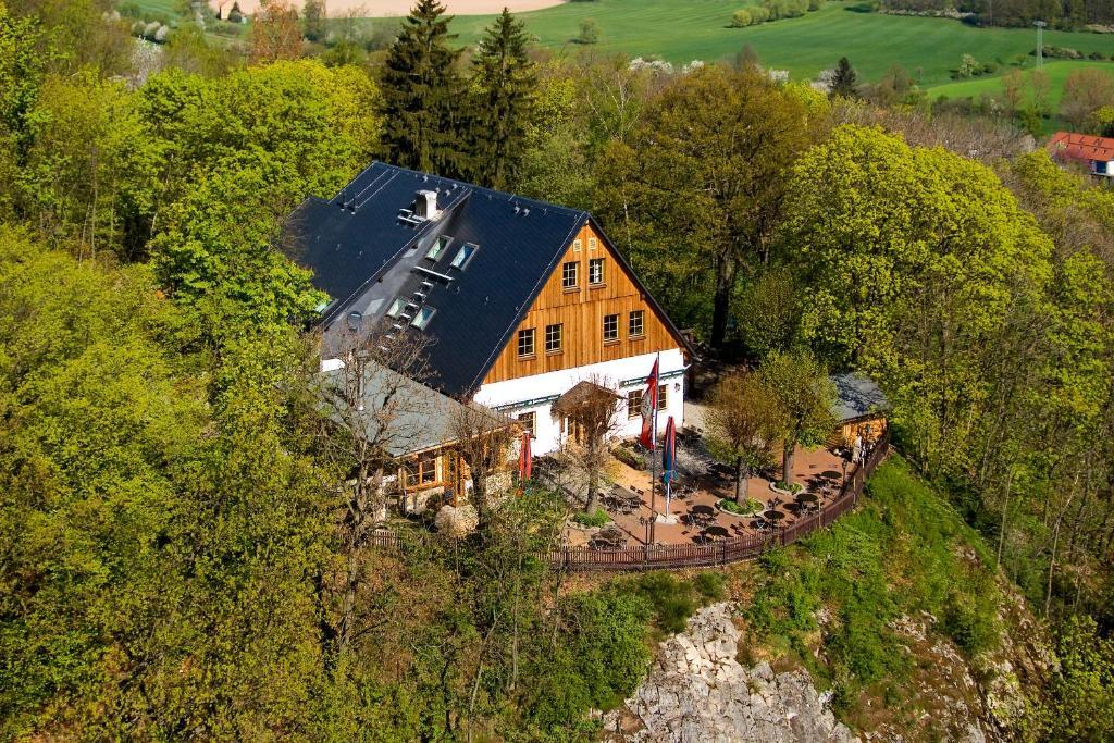 Blick auf Berggasthof Koitsche aus der Vogelperspektive