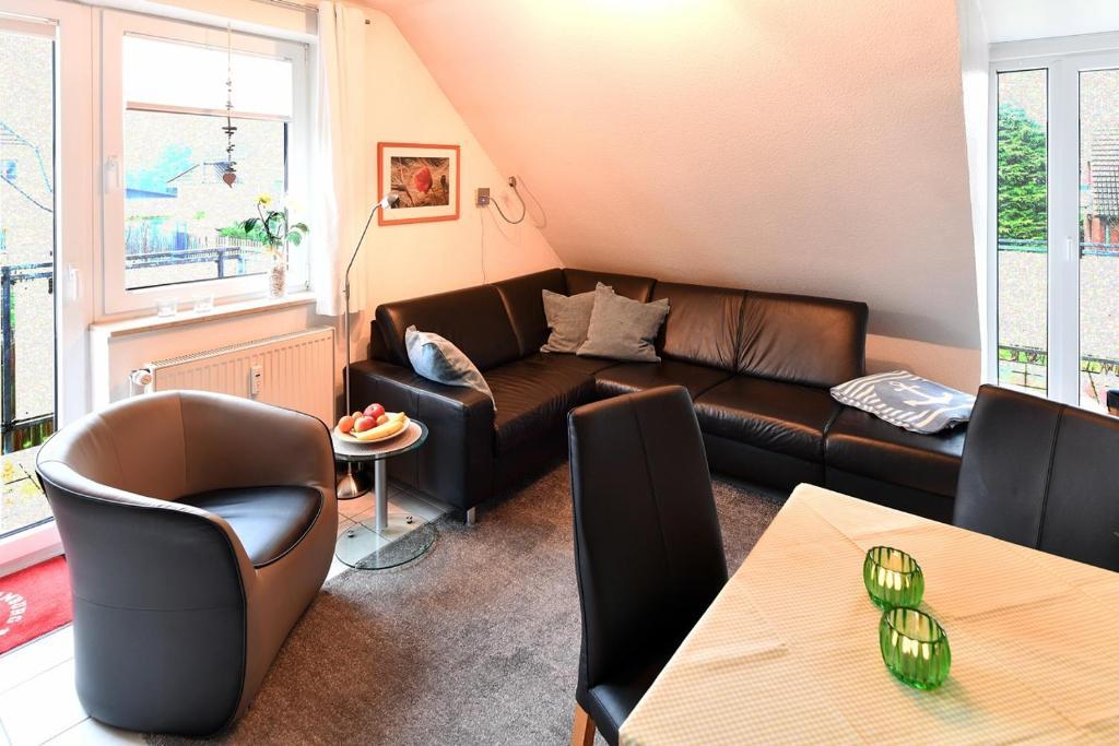 A seating area at Haus Hamburg