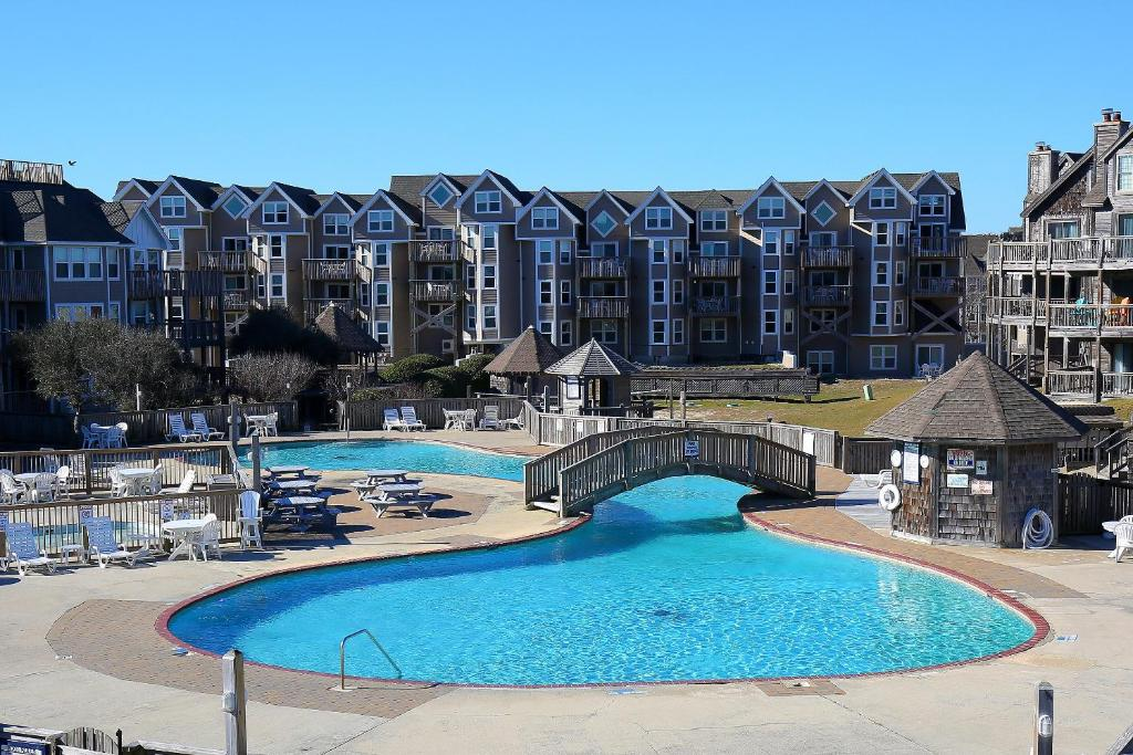 The swimming pool at or close to Barrier Island Station, a VRI resort
