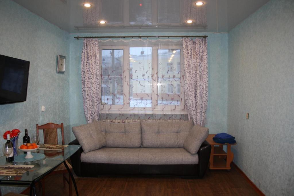Гостиная зона в 1 комнатная квартира Корпусная д26
