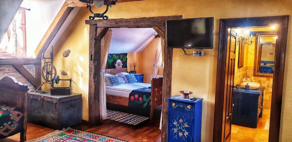 Cama ou camas em um quarto em Casa Bertha