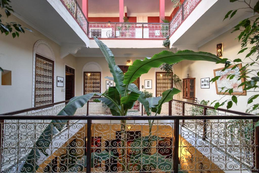 Balcon ou terrasse dans l'établissement Riad Marhbabikoum